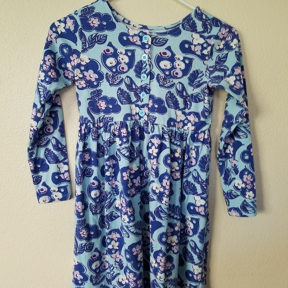 Hanna Andersson Other - Hanna Andersson Blue Floral Dress Girls 130